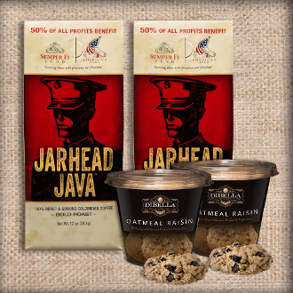 jarhead java coffee and dibella biscotti