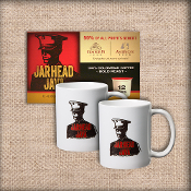 jarhead java coffee and ceramic mugs