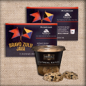 Bravo Zulu Java kcups and dibella cookie cups