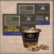 Star & Stripes Java kcups and dibella cookie cups